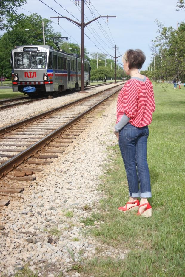 Red, White & Blue watching RTA Train