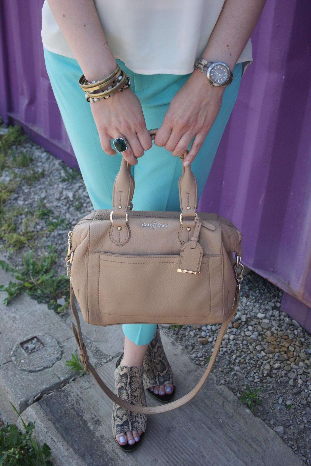 Cole Haan Handbag, Silpada Jewelry, Fossil Watch, Cynthia Rowley Capri