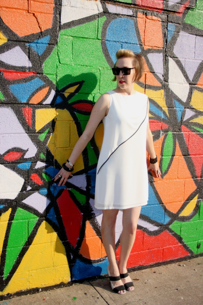 SugarLips dress, A.J. Morgan Sunglasses, Vince Camuto Pumps
