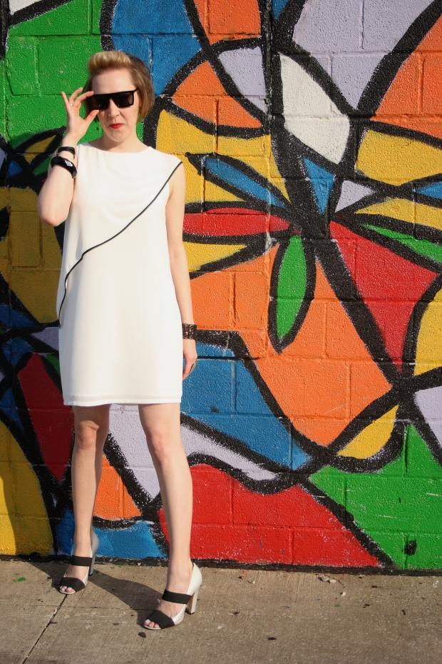 SugarLips dress, A.J. Morgan Sunglasses, Vince Camuto Pumps