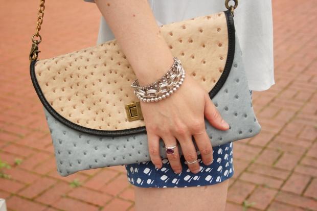 Rainn Silk Blouse, Gucci Watch, Enzo Angiolini Suede Wedge, Silpada Jewelry, Italian Sunnies