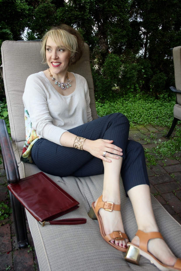 MOTH Sweather, Lucky Brand Cuff, Silpada Wine Flight Ring, Vintage Lou Taulor Clutch, Pour la Victorie