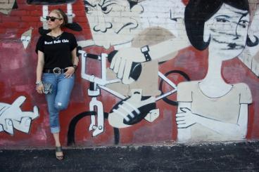 A Partial Blonde, Rust Belt Chic Graffiti