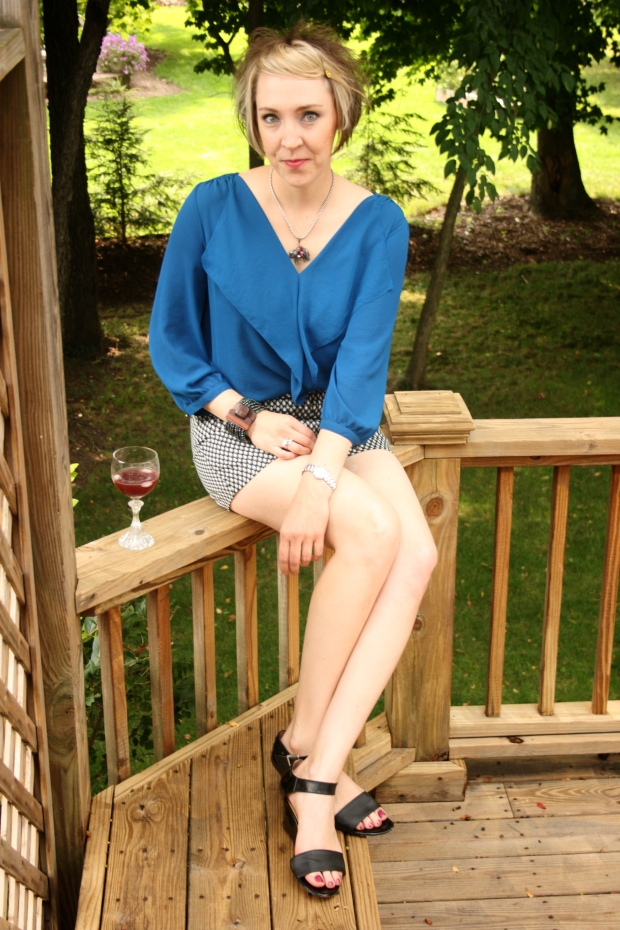 Deck, Maeve blouse, Kenar Shorts, Nine West Shoes, Silpada, Anthropologie, Movado Timepiece