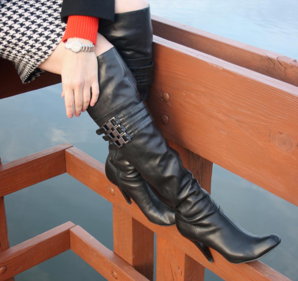 over-the-knee boots, Via Spiga, J.Crew, Calvin Klein, A.J. Morgan, Movado, MAC