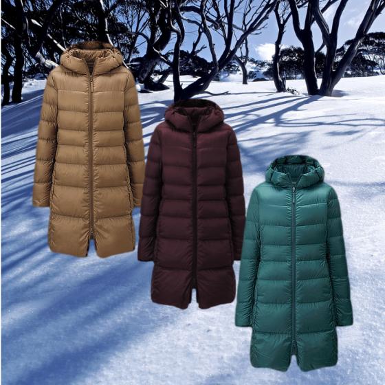 uniQLO Ultra Light Down Hooded Coat